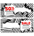 black friday sale banners with vector image vector image