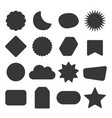 black silhouette and isolated kids icons set vector image vector image