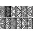 black white arabesque patterns vector image vector image