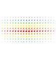 bomb spectrum halftone matrix vector image vector image