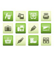 business office and finance icons vector image vector image