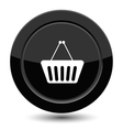 Button with shop cart vector image vector image