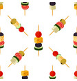 canapes tapas seamless pattern cartoon style vector image