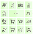 cart icons vector image vector image