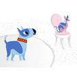 cat and dog characters best happy friends bull vector image vector image