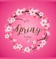 cherry blossom spring time realistic sakura vector image vector image