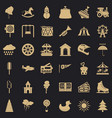 children toy icons set simple style vector image vector image