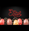 christial holiday greeting card happy easter vector image vector image