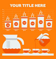 coffee infographic flat vector image vector image
