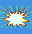 comic explosion background vector image