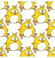 Cute little fat yellow Easter chicken vector image vector image