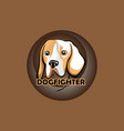 dog fighter vector image vector image