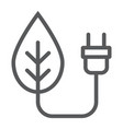 eco power line icon ecology and energy vector image vector image