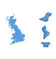 england isometric map country isolated on a vector image vector image
