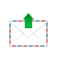 Envelope with outgoing message sign flat icon vector image