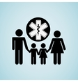 family healthcare design vector image vector image