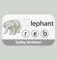 find missing letter with elephant vector image vector image