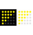 five star rating icon set yellow color customer vector image