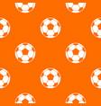 football soccer ball pattern seamless vector image vector image