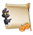 halloween scroll sign vector image vector image