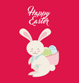 happy easter design vector image vector image