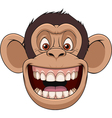Happy monkey head vector image vector image