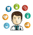 health professional avatar character vector image