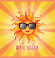 hello summer background holidays cover sun beams vector image
