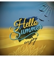 hello summer blurred background vector image vector image
