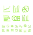 highlighter elements - hand drawn set of vector image vector image