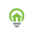 house symbol combined with light bulb vector image vector image