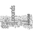 how to change your lifestyle to lose pounds vector image vector image