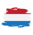 isolated dutch flag vector image vector image