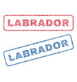 labrador textile stamps vector image vector image