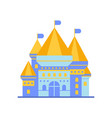 light blue fairytale royal castle or palace vector image vector image
