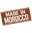 made in morocco stamp vector image vector image