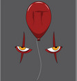 movie diabolic clown it with red balloon vector image vector image