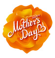 Orange rose Happy Mothers Day Beautiful Blooming vector image