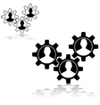 People gears vector image vector image