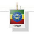 photo of ethiopia flag vector image vector image
