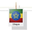photo of ethiopia flag vector image