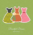 Retro Dresses Background vector image