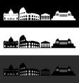 rome skyline vector image