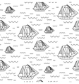 Sailing ship seamless outline pattern in vector image vector image
