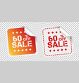 sale stickers 60 percent off on isolated vector image vector image