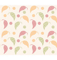 Seamless pattern with hand drawn leaves vector image vector image