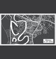shirvan azerbaijan city map in black and white
