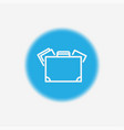suitcase icon sign symbol vector image vector image