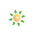 sun farm logo icon design vector image vector image