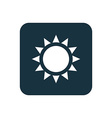 sun icon Rounded squares button vector image